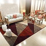 & Teppich Supermarkt Einfache moderne geometrische Teppiche Hand geschnitzte Teppich Wohnzimmer Schlafzimmer Full-Shop Nacht Matratze Nordic Haushalt rechteckigen Teppich Bodenmatte für zu Hause