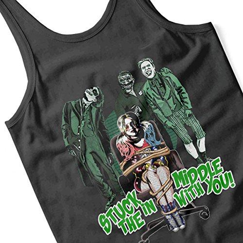 Suicide Squad Harley Quinn Stuck In The Middle Men's Vest Black