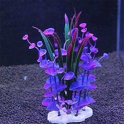 bismarckbeer Artificial Aquatic Plants, Fish Tank Aquarium Plastic Plant Grass Water Plants Decor Ornament 2