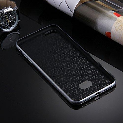 Fall für iPhone 7, künstlerische Kohlenstoff-Faser-Beschaffenheit weiche TPU schützende Fall-rückseitige Abdeckung by diebelleu ( Color : Silver ) Silver