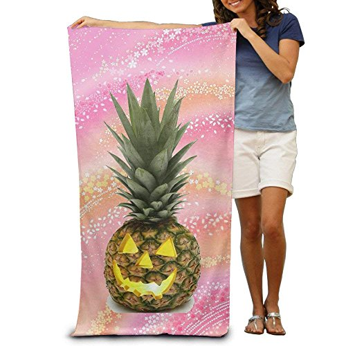 Halloween Pineapple Adult Super Absorbent Beach Towel Polyester Velvet Beach Towels