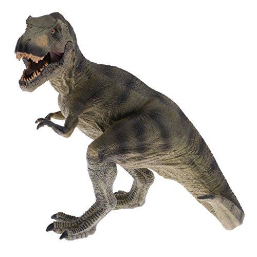 Phenovo Realistic Realistic Dinosaur Toys Tyrannosaurus Model Figurine Collectible Gift - Green 6.3'' Tall