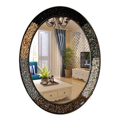 J-Z Mittelmeer Oval Kreatives Zuhause Waschbecken Spiegel Europäischen Wand Bad Eitelkeit Spiegel (Farbe: # 4, Größe: 57 * 71Cm), 2, 60 * 80 cm (Waschbecken 60 Bad Eitelkeit, Zwei)