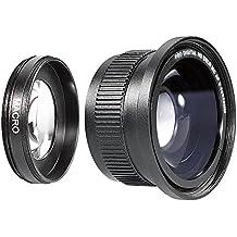 Neewer 10005508 - Objetivo para cámara réflex, Lente Gran Angular Profesional 0.35x,  for NIKON DSLR Cameras, 52 mm, negro