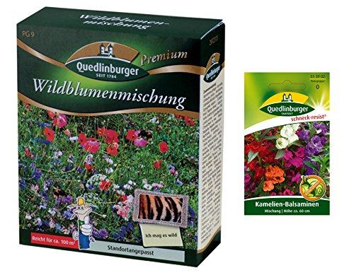 Miscela di fiori selvatici | Prato fiorito | 1x balsamina di camelia libera (resistente alla lumaca) | senza erba | ora prezzo speciale invernale