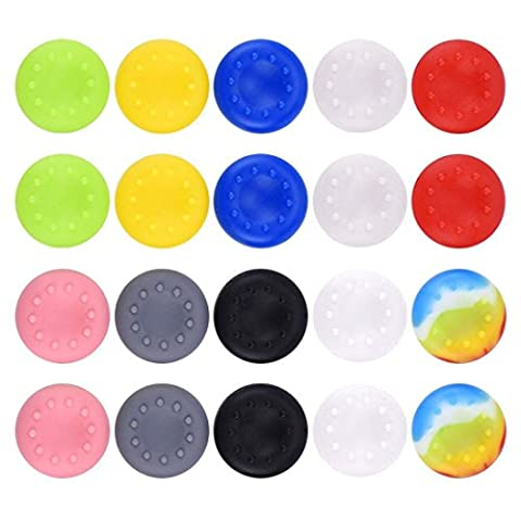 Stillshine prise de pouce thumb grip silicone caps pour PS2, PS3, PS4, Xbox 360, Xbox One, Wii U Manette (Colour 20pc)