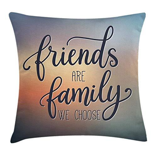 yuweishop Essen Throw Pillow Kissenbezug, Cartoon wie Bild von und schmelzenden Eistüten farbigen Streuseln künstlerischen Print, dekorative quadratische Akzent Kissenbezug, 18 x 18 Zoll, Mehrfarbig