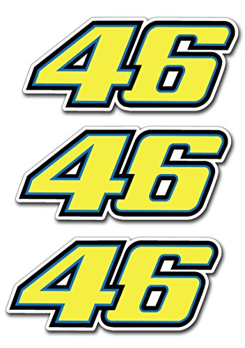 Preisvergleich Produktbild 3stk Valentino Rossi 46 The Doctor Aufkleber Sticker Decal 10x4cm Logo JDM Auto Bike Car Laptop Helm Rockstar Kralle