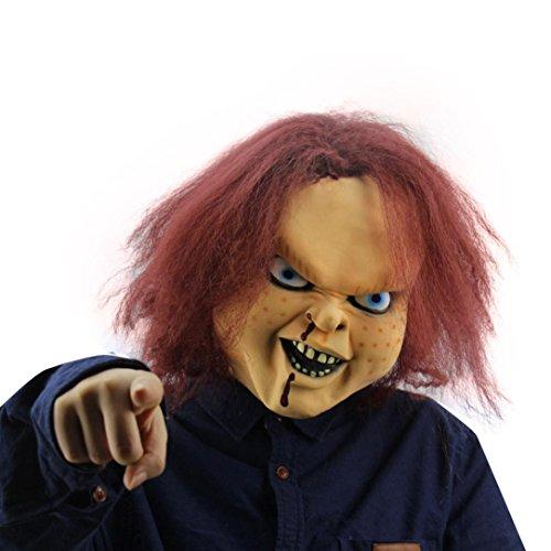 Kanpola Halloween Maske verrückte Cosplay Terror Kopf (Kopf Zombie Pferd Maske)