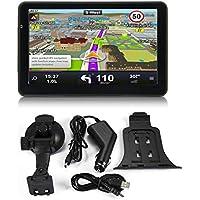 7 Pulgadas del Coche camión, 256M + 8 GB capacitiva Pantalla de navegación del GPS del Coche con una Vida útil Mapas y Radio de la Ayuda FM Sistema de ...