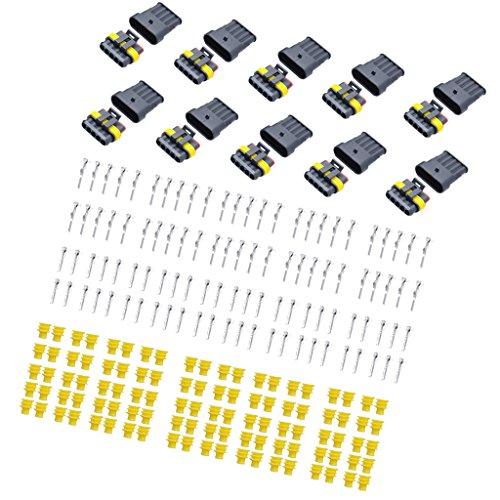 MagiDeal 180 Stück 5-Pin Stromstecker Löcher Strom Komponenten Stecker Ersatz für Fahrzeuge