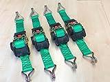 Baumgart heben und sichern 4 Stück Automatik Zurrgurt Spanngurt mit Spitzhaken 3,0m x 50 mm 750/1500 daN #6