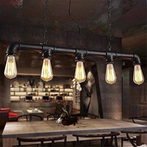 LJSYYR Il coffee shop lampadari luminosi lampadari ferro lampadari stile