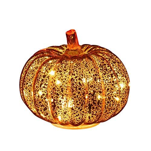simpdecor Calabaza de Halloween LED Ligero Decorativa Adornos para Halloween para una Gran casa embrujada decoración de Halloween Oro 5.5 ''