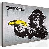 murando Cuadro en Lienzo 60x40 cm! 1 parte - Impresion en calidad fotografica - Cuadro en lienzo tejido-no tejido - una pieza Banksy 030115-40 60x40 cm