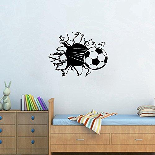 Smart House® - Wandtattoo mit Fußball-Motiv - Schwarz - 55 x 40 cm