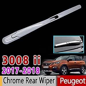 Für Peugeot 3008 Ii The Chrome Heckscheibenwischerabdeckung Luxus Auto Zubehör Aufkleber 3008 Gt 2017 2018 Baumarkt