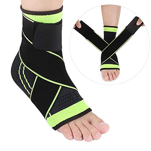 Euaoqi Breathable Ankle Sleeve Brace Compression Wrap Support Elastic Nylon Strap Ankle Support Suitable for Men & Women Sports Ankle Wrap
