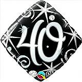 "40 Elegant Sparkles & Swirls, 18"" Diamond Balloon - Foil"