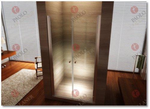 85cm – Verstellbereich von 84-88cm, Duschabtrennung, Duschtür aus 6mm Sicherheitsglas mit Nanobeschichtung - 3