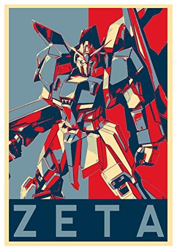 Instabuy Poster Z Gundam Propaganda Zeta Gundam- A3 (42x30 cm)