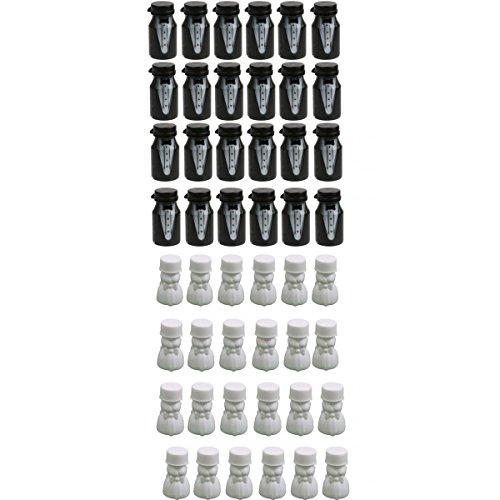 Fenteer 48pcs Seifenblasen Flaschen Scherzartikel Spaßartikel als Hochzeit Geschenk und Spielzeug