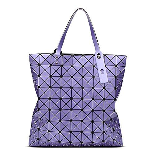 STRAWBERRYER Geometric Female Stitching Matt Brossé Porte-documents Portable Sac à Bandoulière purple