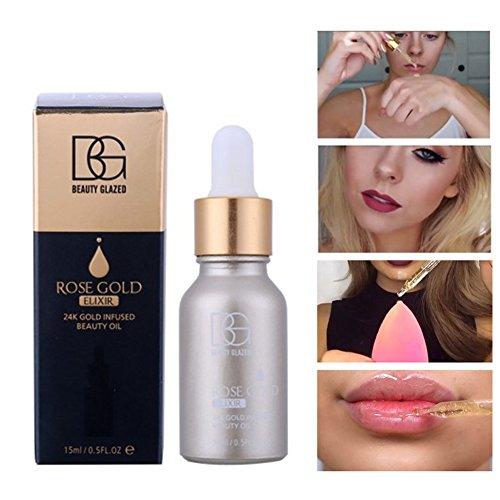 OYGIRL OYOTRIC 24k Feuchtigkeitsspendende Rose Gold Makeup Foundation Grundierung Anti-Falten Gesicht Basis Pflege ätherisches Öl Makeup Foundation Essence 15ML