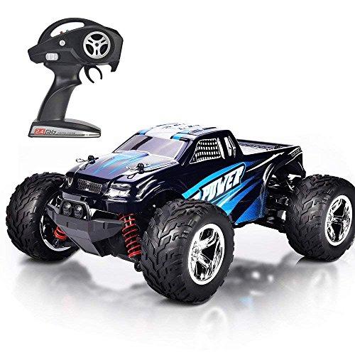 MaxTronic RC Voitures, RC Crawler Racing Véhicule Camion 2.4Ghz 4WD Haute Vitesse 1:20 Radio Télécommande Buggy Électrique Course Rapide Hobby (Blau)