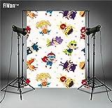 FiVan Cartoon Fotografía Fondo Foto Fondo para recién nacido Baby Shower Cumpleaños Fiestas Pancarta Postre Mesa Decor Photocall -2018/06/06