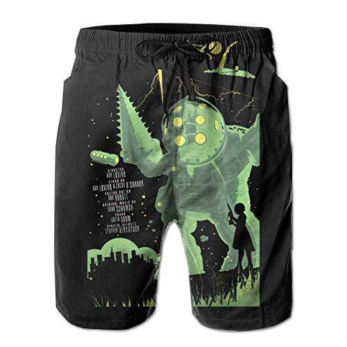 Feng Huang Herren Bioshock Beach Shorts Schnelltrocknende Beach Board Shorts Bequeme Beachwear L