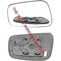 Nissan Navara 2005,2006,2007riscaldato, Argento, Ala/anta a specchio in vetro con piastra di base SX (lato passeggero) - Nissan Lato Passeggero Specchio