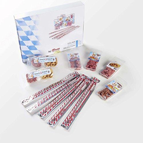 Salami Probier-Paket SNACK SELECTION Wurst Geschenkbox - 7 verschiedene Produkte - 11 Stück - 390 g