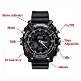nextthink SPY HD 1080P 16 GB Waterproof Watch Infrared Camera Hidden Video Camera