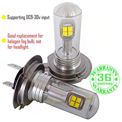 Preisvergleich Produktbild Wiseshe H7 birne led lampen autolampe DC9-30v 3 Jahre Qualitätssicherung (Satz von 2) H7 8 led Hochleistungs rot