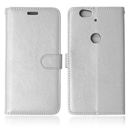 Farbe Folio Flip Case Cover PU Leder Case mit Karte und Cash Slots für Huawei Nexus 6P, Kunstleder, grün, Huawei Nexus 6p White