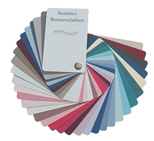 farbkarte sommertyp Farbpass Business Sommer (cool Summer) als Fächer mit 34 typgechten Farben zur Farbanalyse, Farbberatung