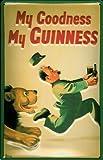 Blechschild Nostalgieschild Guinness Löwe Verfolgung retro Schild Bier Beer Werbung