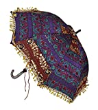Decorative Sun Base Silk Parasol Umbrell...