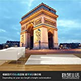 Mural PapelPintado TelaNoTejidaarco Triunfal De La Ciudad De París Arquitectura Europea Imagen De Fondo En 3D Mural De 3D Sala De Estar Papel De Empapelado Fondo Personalizado, 250 * 175 Cm
