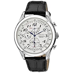 Seiko Men's Chronograph Watch with Leather Strap – SPC131P1