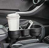 INION® Plug&Play Prinzip UNIVERSELLES KFZ Getränkehalter - Becherhalter - Ablagefach - Stauraum - Cup Holder - Aufbewahrungsbox - Ablagefach Stauraum - Dosenhalter - Becherhalter - Kaffeehalter - Flaschenhalter - Pommes halter - Burger&Cola Halter - Drink Holder - Organizer - Für alle Auto PKW LKW Ideal für Mittelkonsole Fahrersitz&Beifahrersitz und Rücksitz, Rückbank zwischen den Sitzen