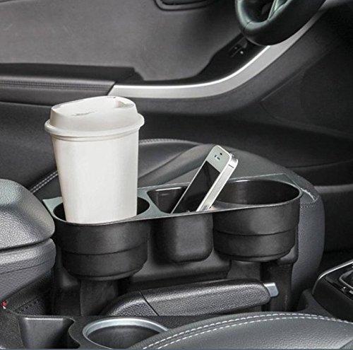 Preisvergleich Produktbild INION® Plug&Play Prinzip UNIVERSELLES KFZ Getränkehalter - Becherhalter - Ablagefach - Stauraum - Cup Holder - Aufbewahrungsbox - Ablagefach Stauraum - Dosenhalter - Becherhalter - Kaffeehalter - Flaschenhalter - Pommes halter - Burger&Cola Halter - Drink Holder - Organizer - Für alle Auto PKW LKW Ideal für Mittelkonsole Fahrersitz&Beifahrersitz und Rücksitz, Rückbank zwischen den Sitzen