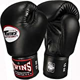 TWINS Boxhandschuhe, Leder, schwarz, Muay Thai, leather boxing gloves, MMA Size 16 Oz für TWINS Boxhandschuhe, Leder, schwarz, Muay Thai, leather boxing gloves, MMA Size 16 Oz