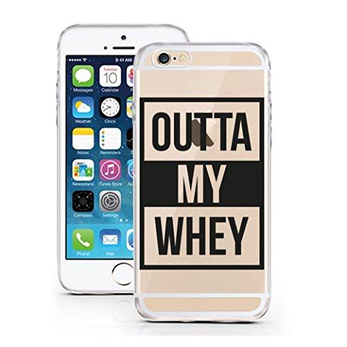 licaso Handyhülle für iPhone 5 & 5S SE aus TPU mit Outta My Whey Protein Gym Eiweiß Fitness Pumpen Print Design Schutz Hülle Protector Soft Extra