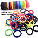 #5: Multi-Colour Rubber Hair Bands For Women And Girls Set of 25Pcs.