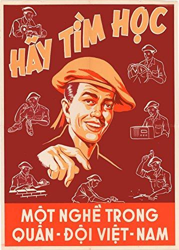 World of Art Vintage Southern Vietnam antikommunist Propaganda & Einstellung Studie und Herzlichkeit Wenn Sie sich der Armee C1952250gsm, glänzend, A3, vervielfältigtes Poster