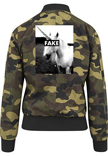 Fake Unicorn Bomberjacke Girls Camouflage Certified Freak-L