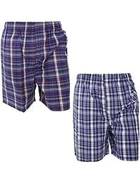 Pantalones cortos de pijama/estar por casa a cuadros hombre caballero (paquete de 2 unidades)