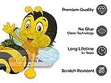 Fenster-Tattoo - dekorative Sichtschutzfolie für Fenster in Kinderzimmer | schöne Fensterfolie - selbsthaftende Glasfolie | einfach anzubringende Fensterdeko | Fenstertattoo 40 x 40 cm - Design Bee für Fenster-Tattoo - dekorative Sichtschutzfolie für Fenster in Kinderzimmer | schöne Fensterfolie - selbsthaftende Glasfolie | einfach anzubringende Fensterdeko | Fenstertattoo 40 x 40 cm - Design Bee